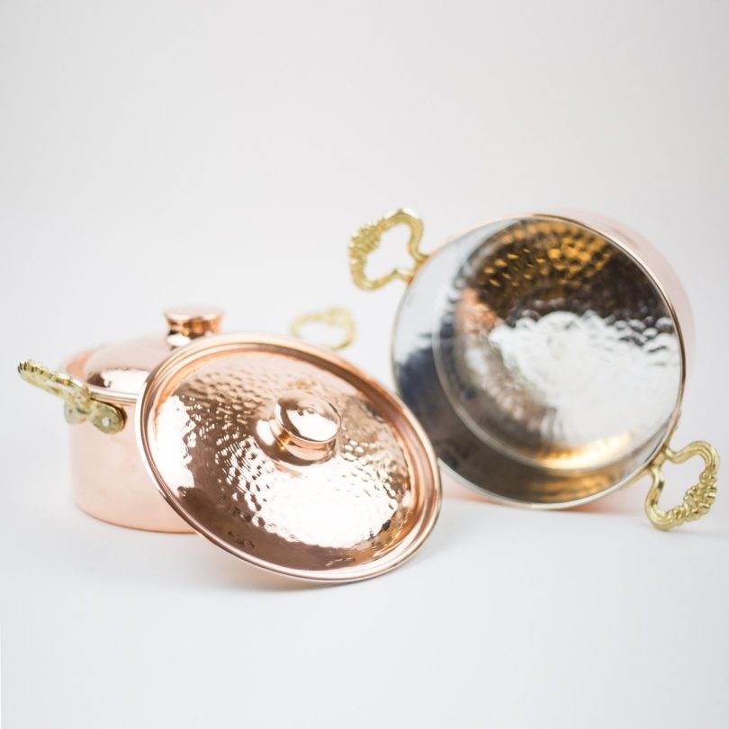 Thick Copper Cooker Set of 2