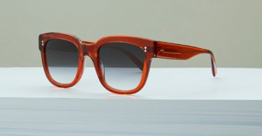 Ali Mac Transparent Rust Sunglasses