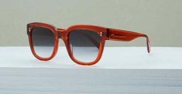Ali Mac Transparent Rust Sunglasses