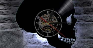 Skull LED Light Wall Clock