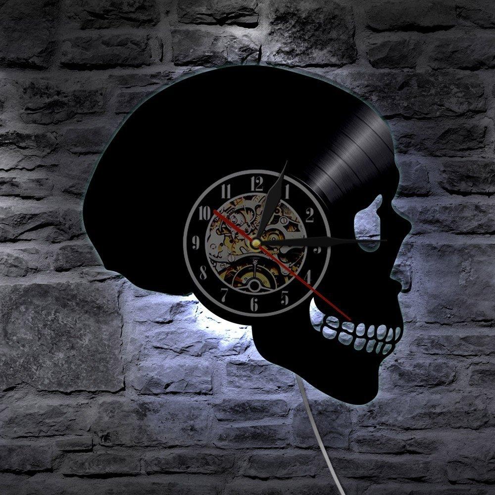 Skull LED Light Wall Clock