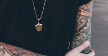 Akitsune Insignia Shield Pendant Necklace
