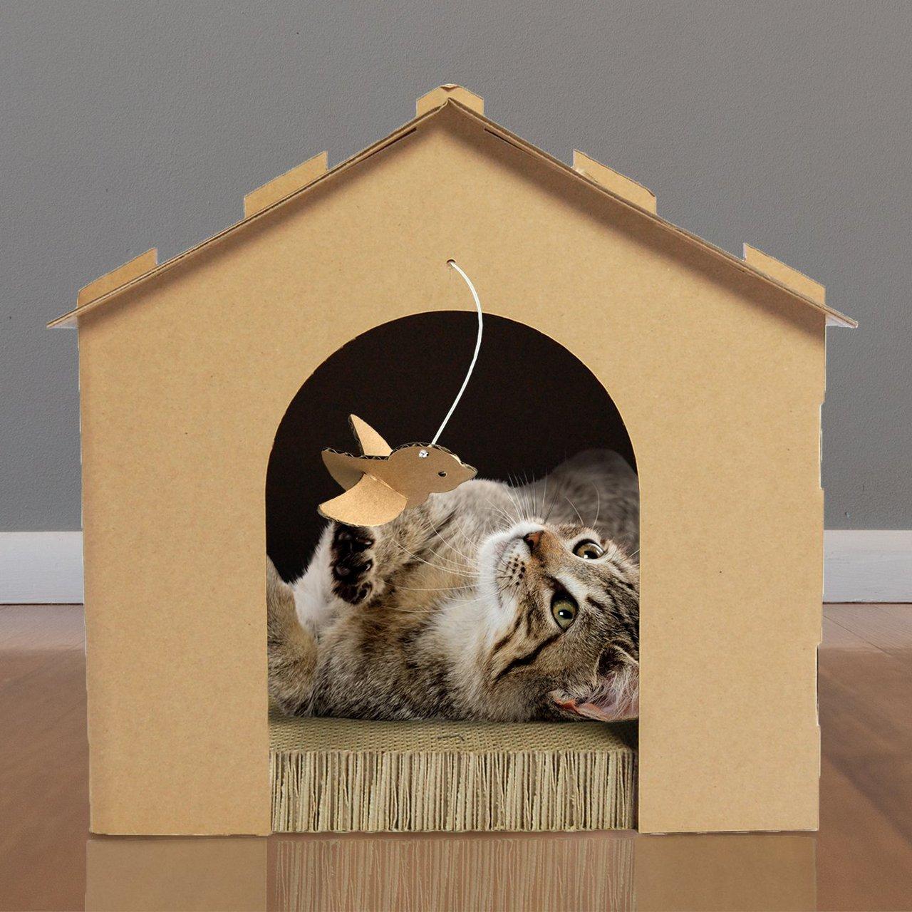 FurHaven Corrugated Cat Scratcher with Catnip