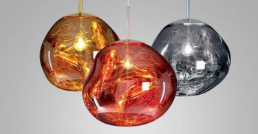 Modern Glass Island Pendant Lighting Fixtures Lava