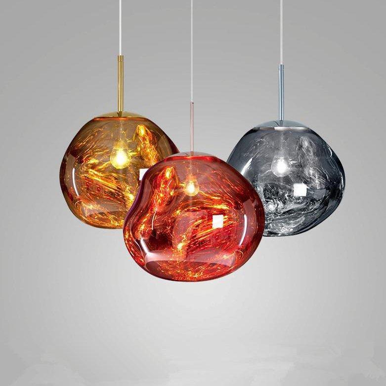 Modern Glass Island Pendant Lighting Fixtures Lava