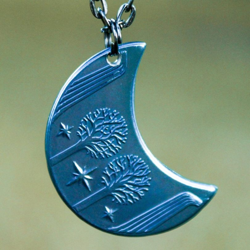 Rivendell Mithril Blue Moon Necklace
