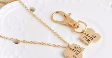 Best Friends Charm Necklace & Keychain