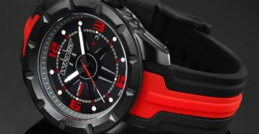 Wryst Ultimate ES60 Black/Red Swiss Sports Watch