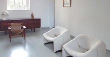 Dutch Woolen Groovy Chairs by Pierre Paulin for Artifort