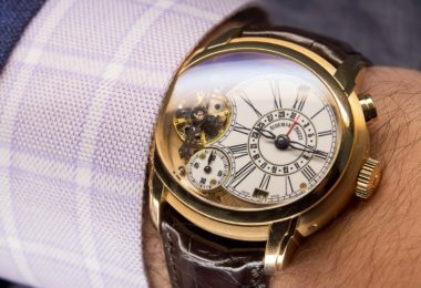 Audemars Piguet Millenary Quadriennium Gold White Enamel Dial 18 Carat Pink Gold Watch