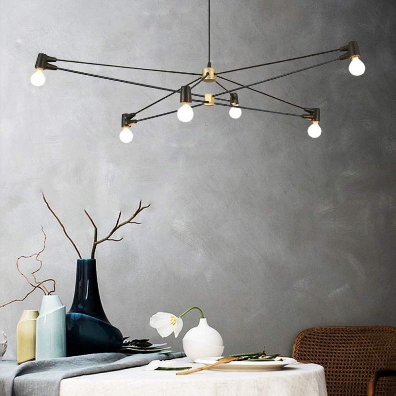 AIDOS 6-Light Metal Island Pendant Light