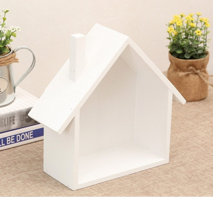 Skyseen 1PCS House-Shaped Wall Mounted & Tabletop Multipurpose Storage Box