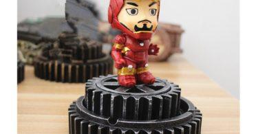 HEYFAIR Creative Iron Man Home Cigarette Ashtray Home Decoration