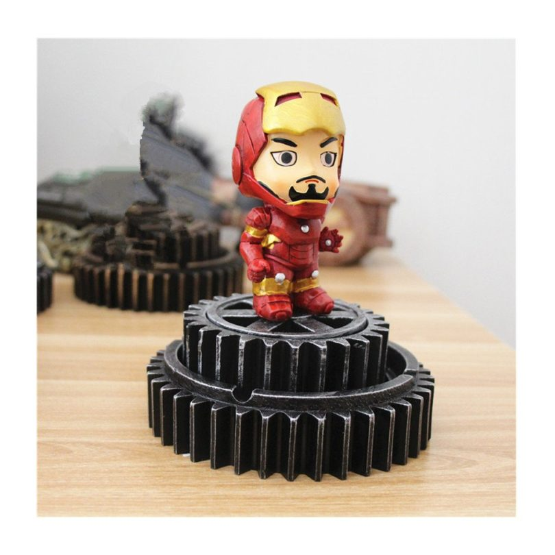 HEYFAIR Creative Iron Man Home Cigarette Ashtray Home Decoration