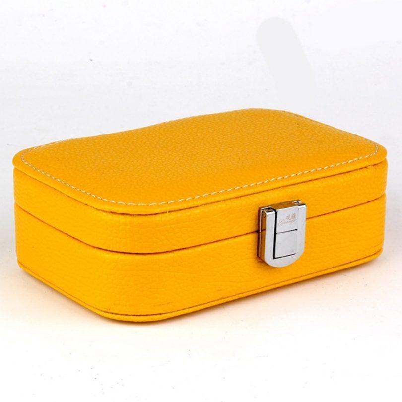 Kajuer Women Girl Crocodile Jewelry Storage Box Portable