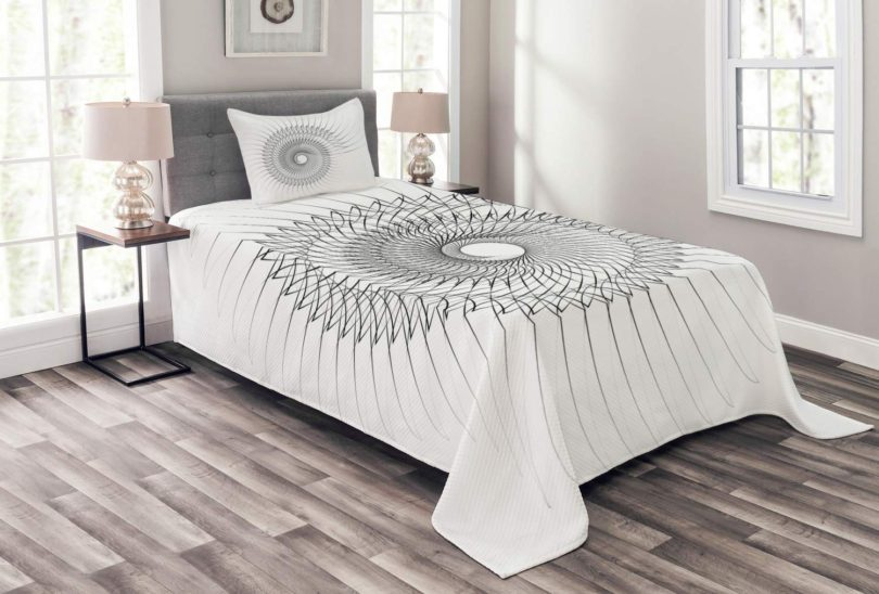 Ambesonne Spires Bedspread Set Twin Size