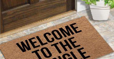 MsMr Door Mat Entrance Floor Mat Welcome to The Jungle Designed Funny Indoor Outdoor Doormat Non-Woven Fabric