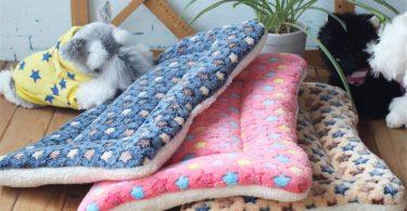 cola-site Winter Warm Dog Bed Soft Fleece Pet Blanket Cat