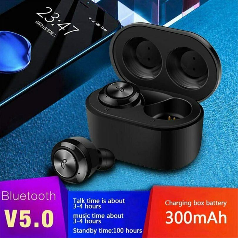 True Wireless Earphone Earbuds, TWS Bluetooth V5.0