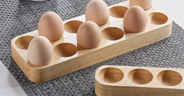 Rectangular Wood Egg Storage Tray