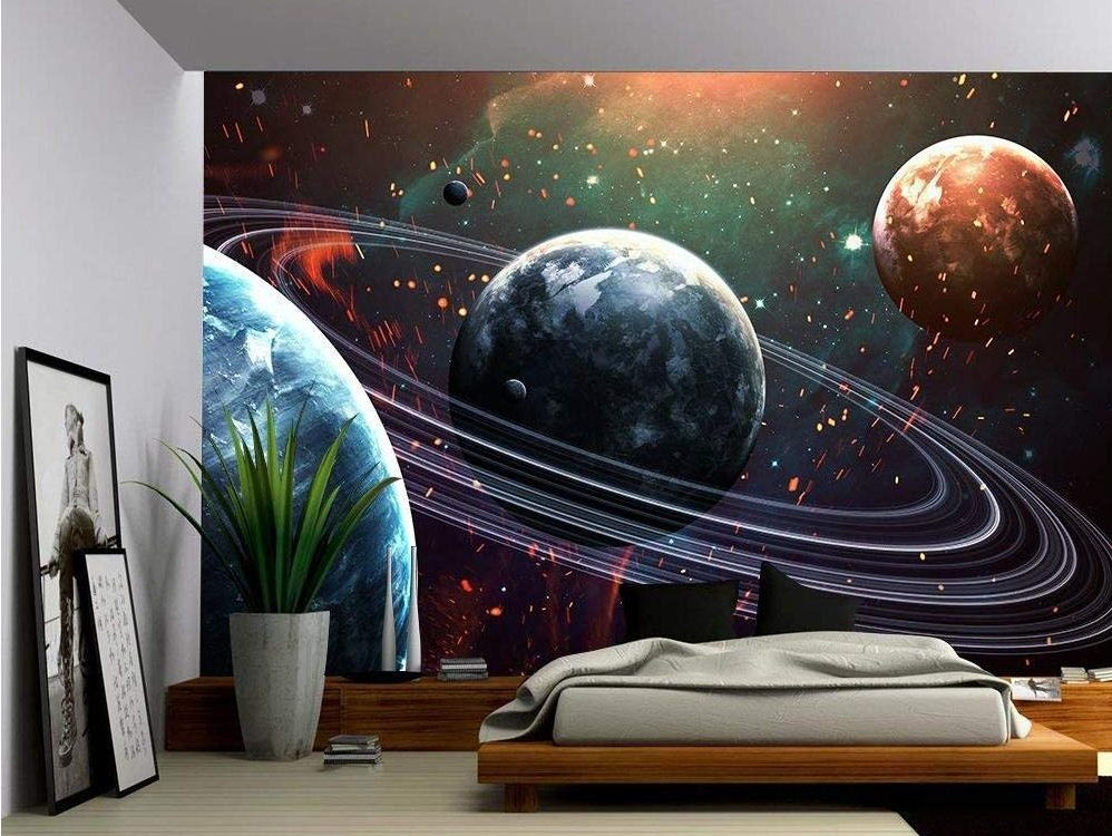 wall26 – Universe Scene with Planets
