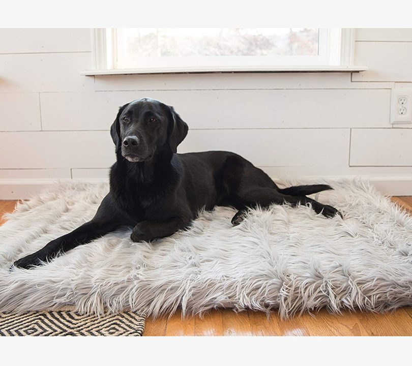 PupRug Faux Fur Memory Foam Orthopedic Dog Bed