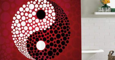 Jagfhhs Ying Yang Decor Shower Curtain Set Abstract Graphic Yin Yang