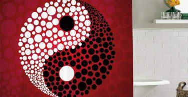 Jagfhhs Ying Yang Decor Shower Curtain Set Abstract Graphic Yin Yang