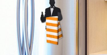 Wine Waiter Kitchen Towel Hanger
