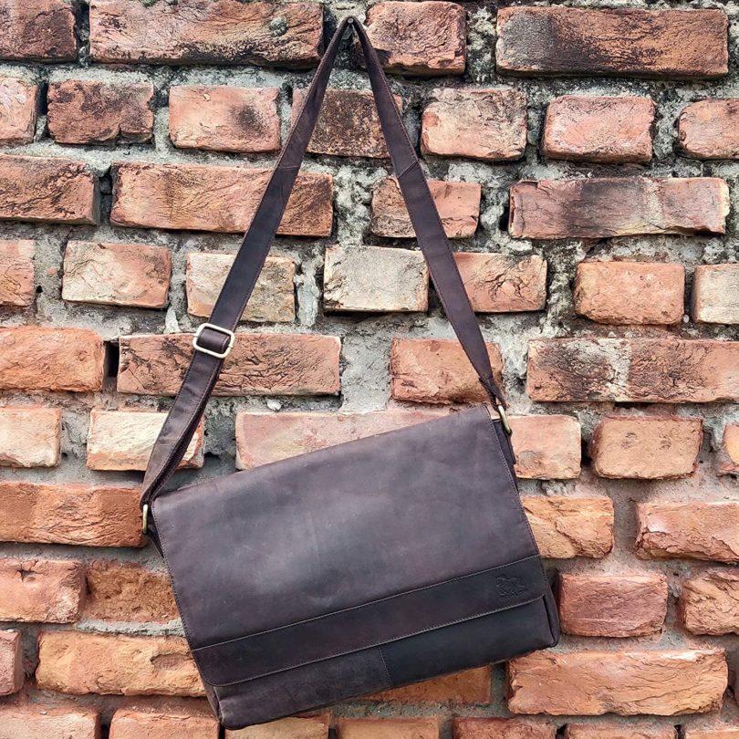 Alpha 13 / Fox Leather Briefcase