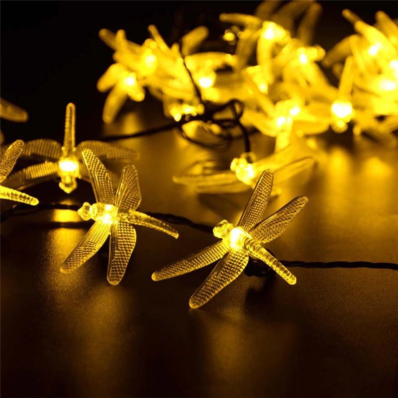 Solar Powered Dragonfly LED Light String