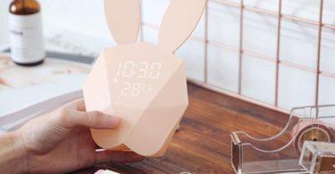 Bunny Rabbit Alarm Clock & Temperature Digital Display