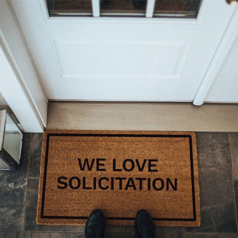 We Love Solicitation Doormat