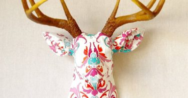 Faux Taxidermy Fabric Deer Head Wall Mount