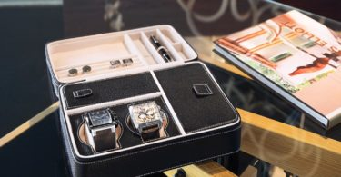 Expedition 3 Watch Box Nappa Leather Black Finish