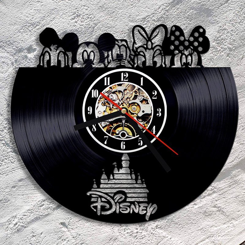 Disney LED Vinyl Record Wall Clock