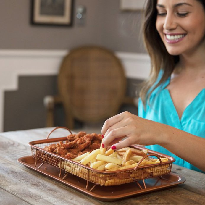 Non Stick Copper Crisper Tray