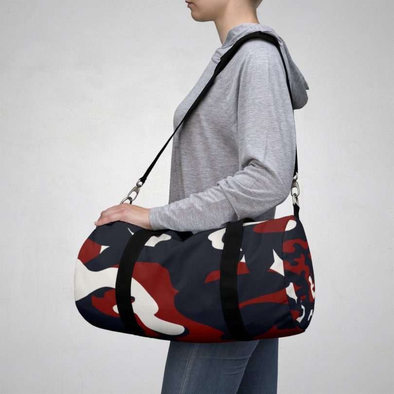 Homefront Girl Signature Red, White and Blue Camo Duffle Bag