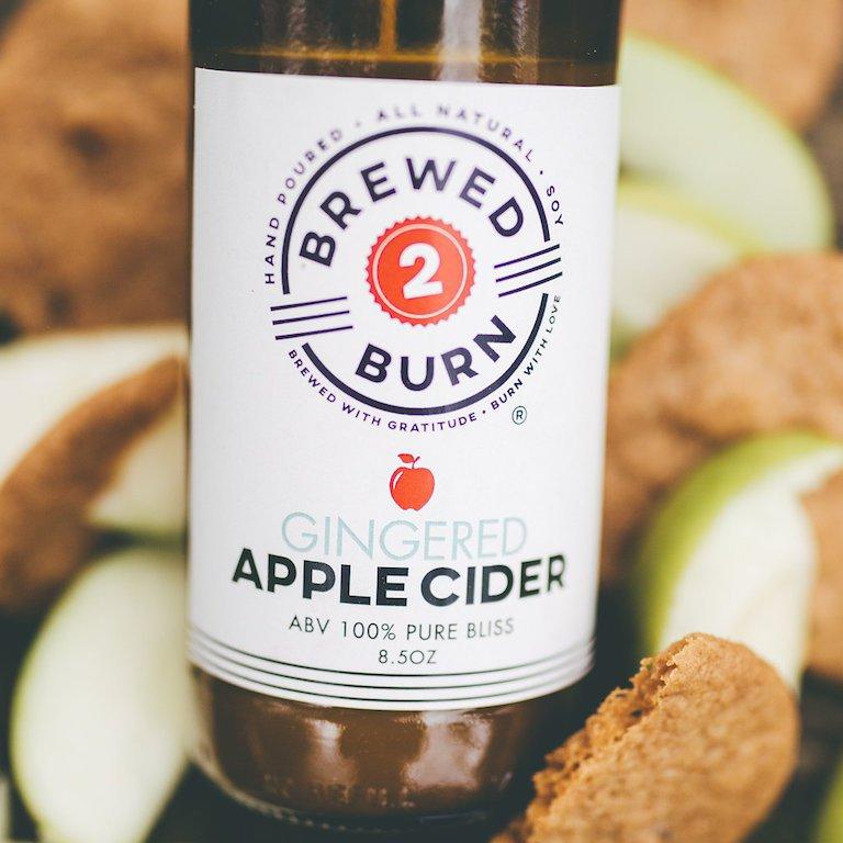 Brewed 2 Burn Gingered Apple Cider Craft Beer Inspired Soy Candle