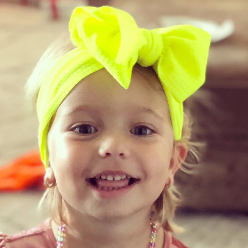Neon Yellow Head Wrap for Babies/Toddlers by Simplybow