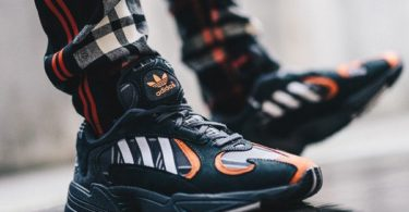 Adidas Yung-1 Orange Plaid