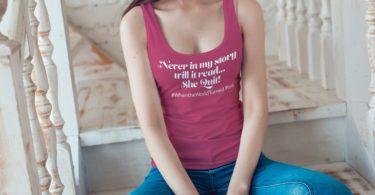 Never In My Story Will It Read…She Quit! Racerback Tank