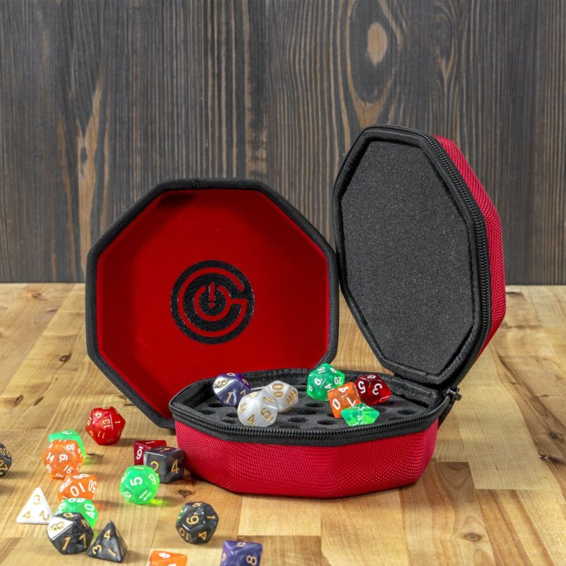 Protective Dice Case and Nesting Felt Dice Tray