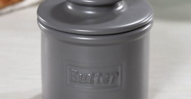 Cafe Steel Gray Matte Finish Butter Bell Crock