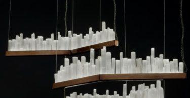 Skykine White Quartz Pendant Lamps by Waldir Junior, Set of 3