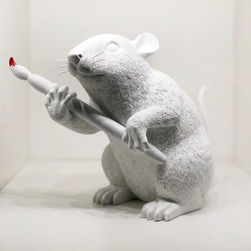 Banksy Love Rat Sculpture 2016
