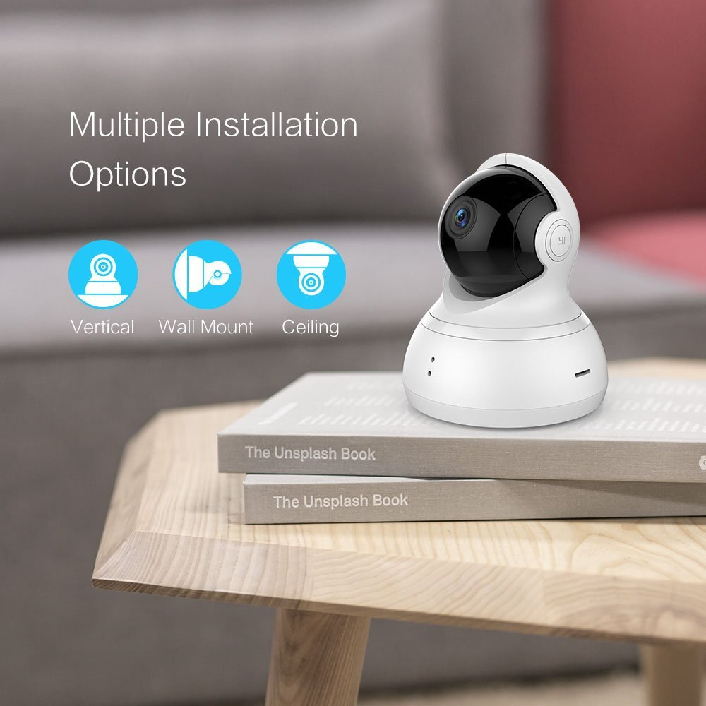 YI Dome Camera Pan/Tilt/Zoom Wi-Fi IP Indoor Home Security Surveillance System 720p HD Night Vision