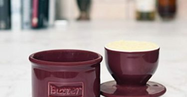 Cafe Retro Crimson Butter Bell Crock