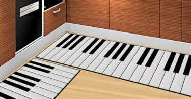 Piano Pattern Floor Mat Kitchen Carpet Absorb Water Mat Anti-Slip