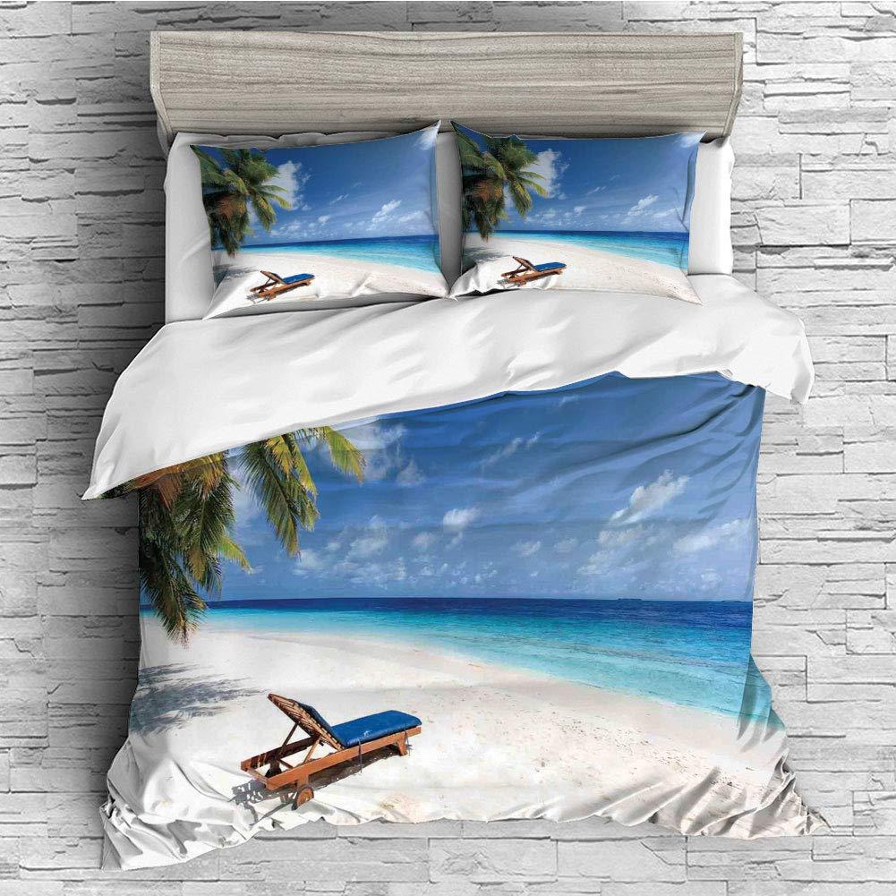 Sand Palm Trees Sunny Summer Exotic Travel Theme Duvet